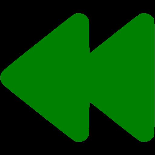 Green Rewind Icon