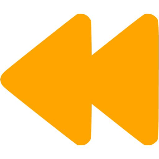 Orange Rewind Icon
