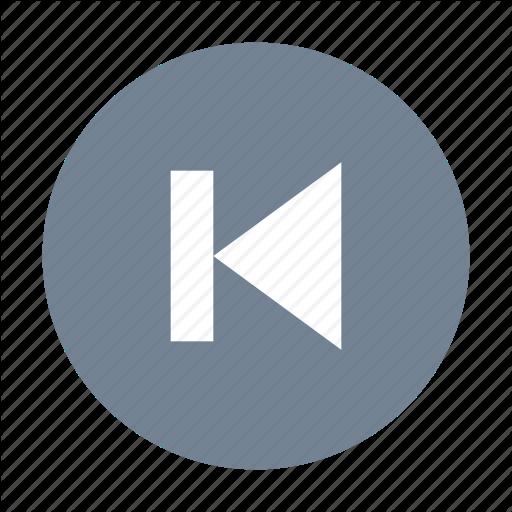 Previous, Rewind, Start Icon