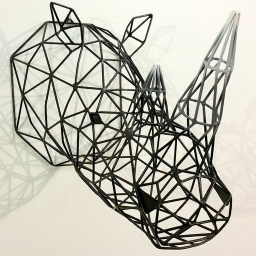 Black Rhino Sculpture