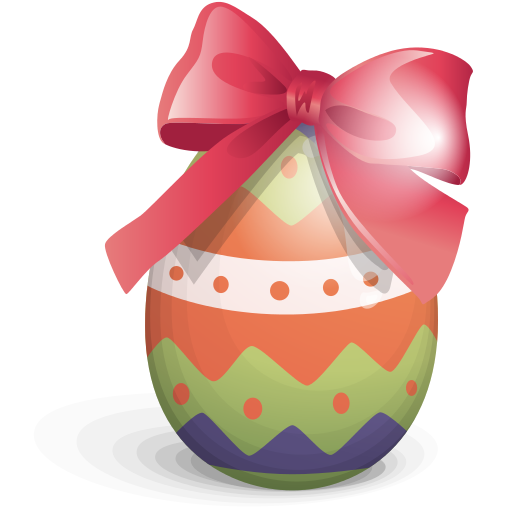 Easter Egg Ribbon Icon Free Icons Download