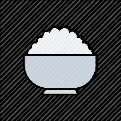 Bowl, Food, Rice Icon