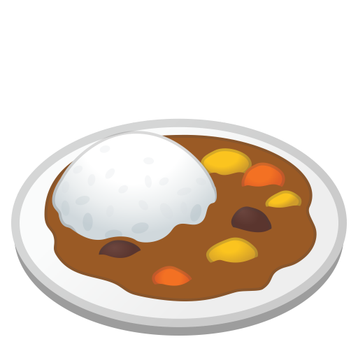 Curry Rice Icon Noto Emoji Food Drink Iconset Google