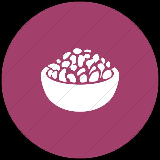 Flat Circle White On Pink Ocha Humanitarians Food Nfi