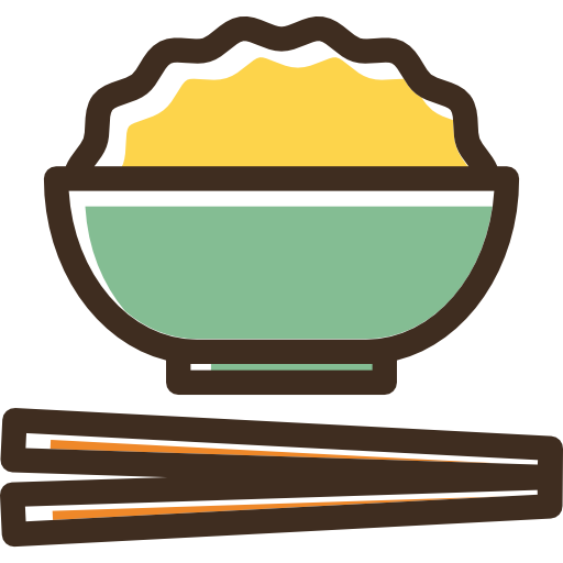 Rice Icon Linear Color Food Set Freepik