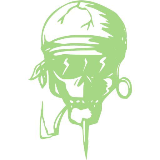 Guacamole Green Skull Icon