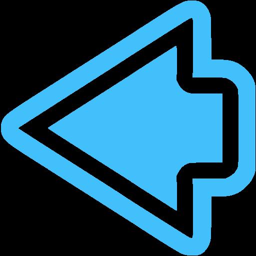 Caribbean Blue Arrow Left Icon