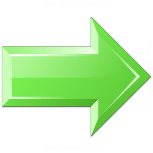 Iconexperience V Collection Arrow Right Green Icon