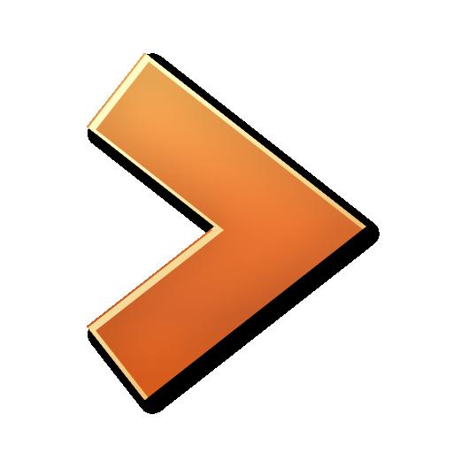 Orange Right Arrow Icon