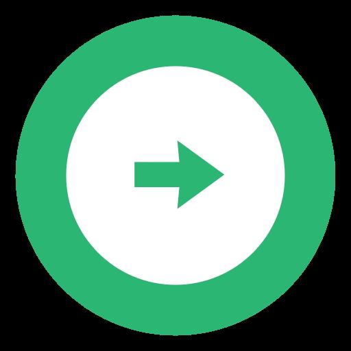 Green, Right, Arrow, Rightarrow Icon