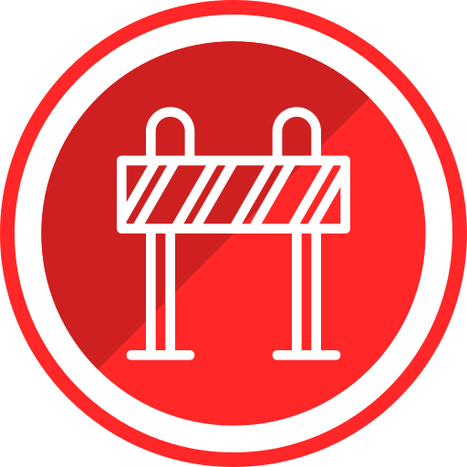 Construction, Danger, Equipment, Roadblock, Warning Icon Free