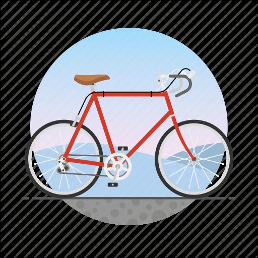 Bicycle, Bike, Circle, Racing Bike, Road Bike, Ten Speed Bike Icon