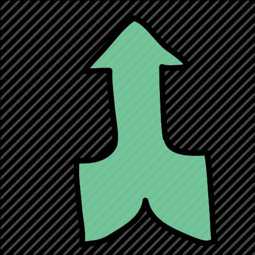 Arrow, Arrows, Direction, Merging, Road Icon