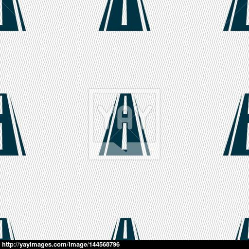 Road Icon Sign Seamless Abstract Background With Geometric Shapes
