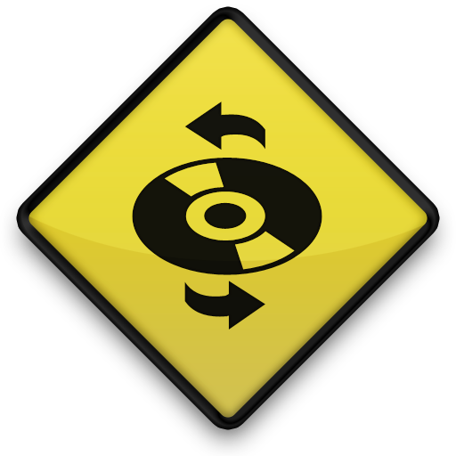 Yellow Road Sign Icon Media Cd Refresh Free Images