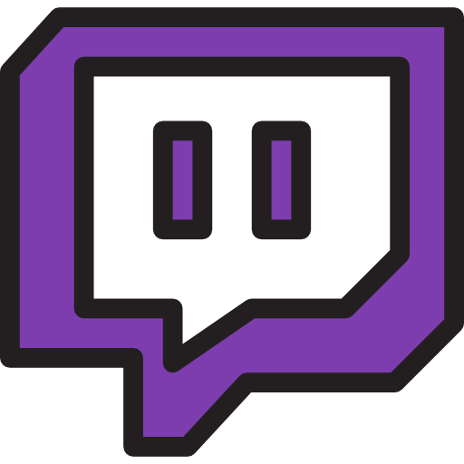 Red Twitch Logo Png Images