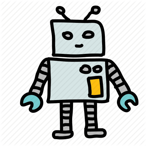 Cute, Friendly, Robot, Space Icon