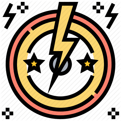 Bolt, Electric, Light, Music, Star Icon