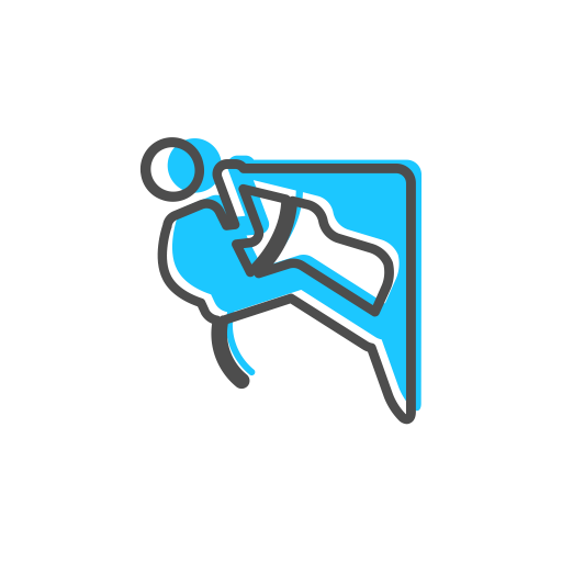 Rock Climbing, Linear, Climbing Icon With Png And Vector Format