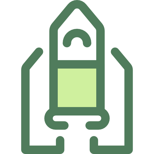 Rocket Launch, Startup, Space Ship Icon
