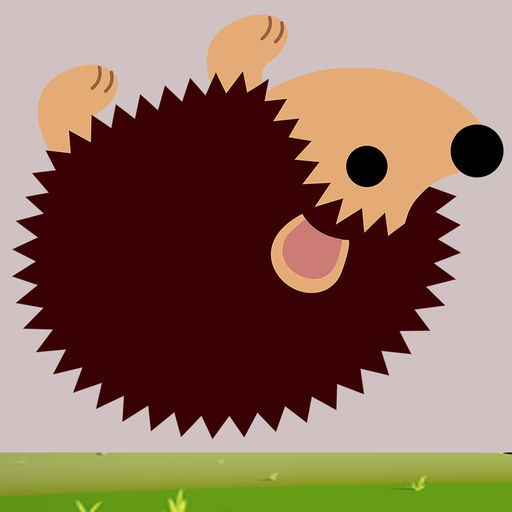 Free Brown Hedgehog Rolling