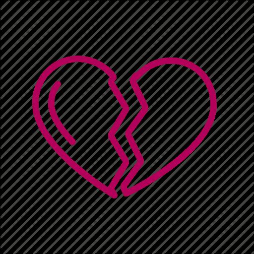Broken, Heart, Love, Romantic Icon