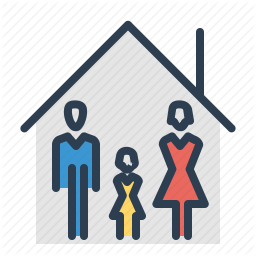 Apartment, Family, House, Property, Roof Icon
