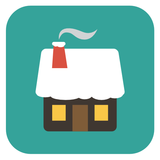 Home Icon Flat Christmas Iconset Fps