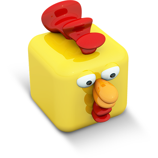 Cubed Rooster Icon