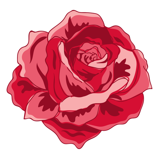 Red Blooming Rose Icon