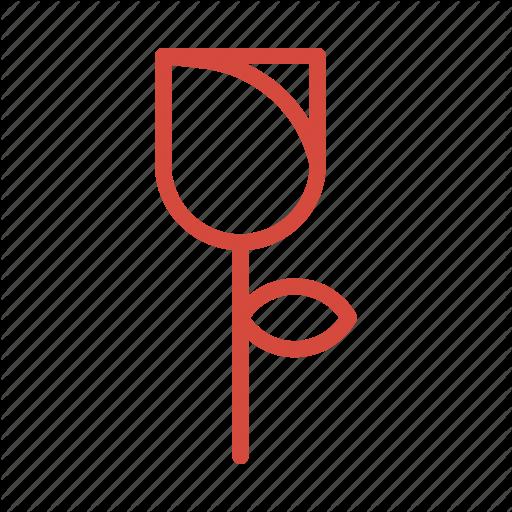 Flower, Rose Icon