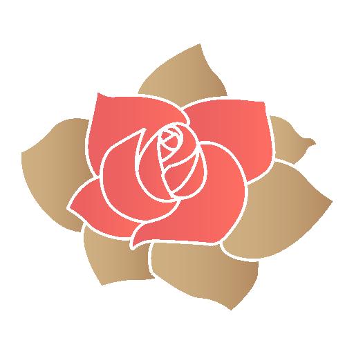 Rose Flower Icon Valentine Iconset Designbolts