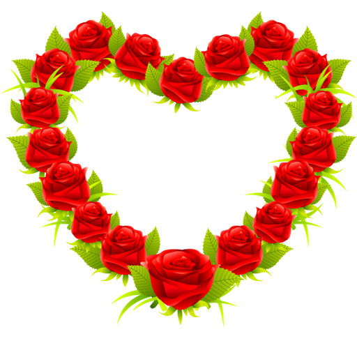 Heart Shaped Roses Icons Download Free Icons