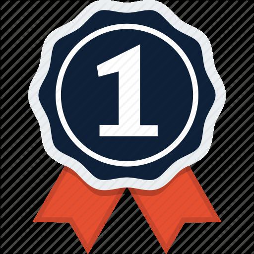 Award, Badge, First, Ribbon, Rosette Icon