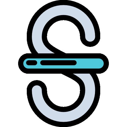 Strikethrough, Text Icon
