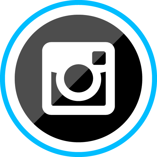 Instagram Free Sleak Blue Round Social Media Icon