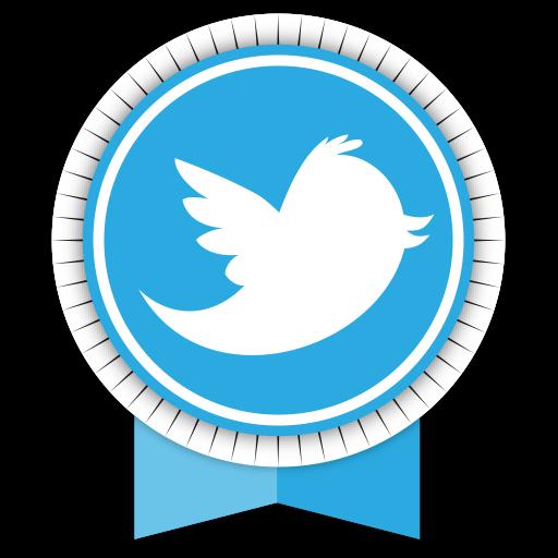 Social, Medias, Round, Ribbons, Twitter Icon Free Of Round Ribbon