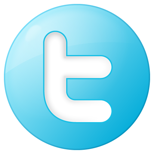 Blue, Button, Round, Social, Twitter Icon