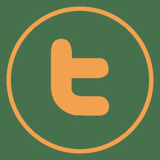 Twitter Distorted Round Icon