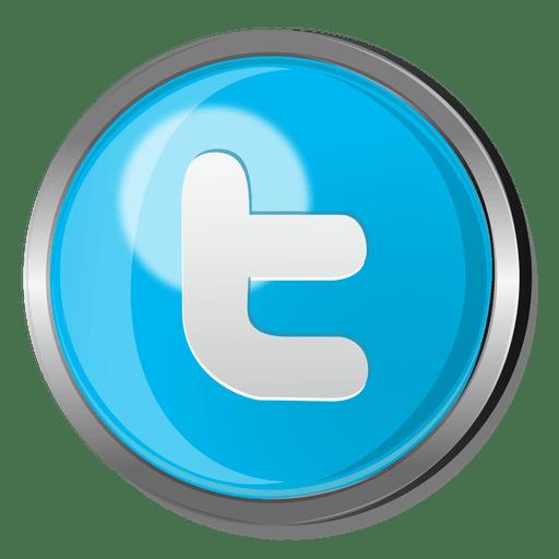 Twitter Round Metal Button