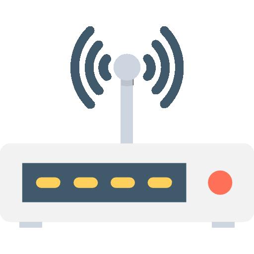 Router Icon Office Set Vectors Market