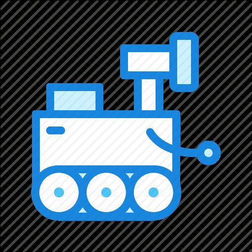 Cartoon, Robot, Robotics, Space Rover Icon