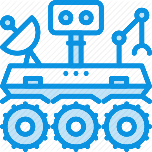 Mars, Robot, Rover Icon