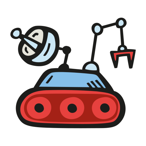 Space, Rover Icon Free Of Space Hand Drawn Color
