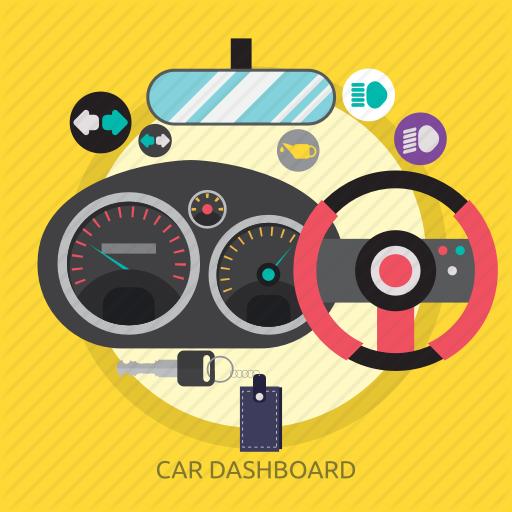 Car, Car Dashboard, Dashboard, Rpm, Speed, Speedometer Icon