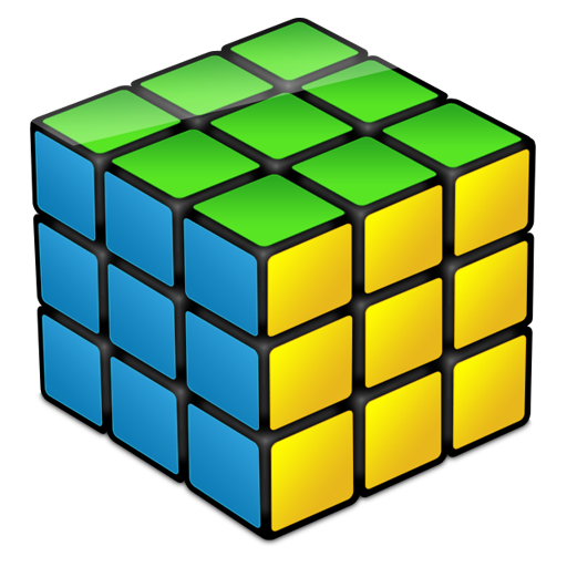 Solved Rubik's Cube Icon