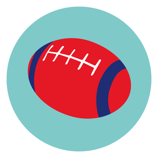 Rugby Ball Round Icon