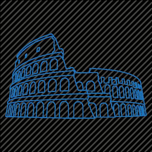 Architecture, Colosseum, Iconic, Roman, Rome, Ruins Icon