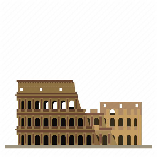 Building, Coliseum, Colosseum, Italy, Landmark, Rome, Ruins Icon