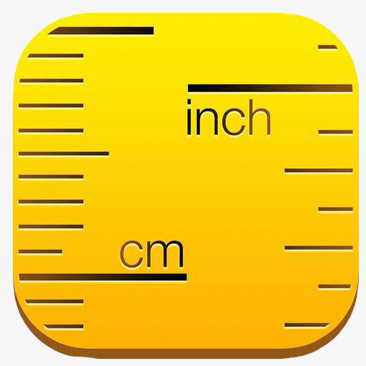 Ruler Icon, Ruler Clipart, Yellow, Material Png Image And Clipart